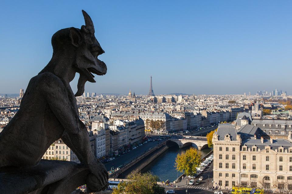 A chimera of Notre-Dame de Paris
