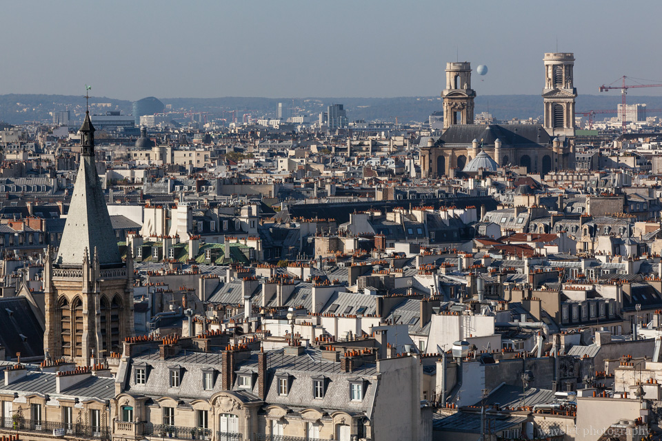 Rooftops of Left Bank and Église Saint-Sulpice, from Notre-Dame de Paris