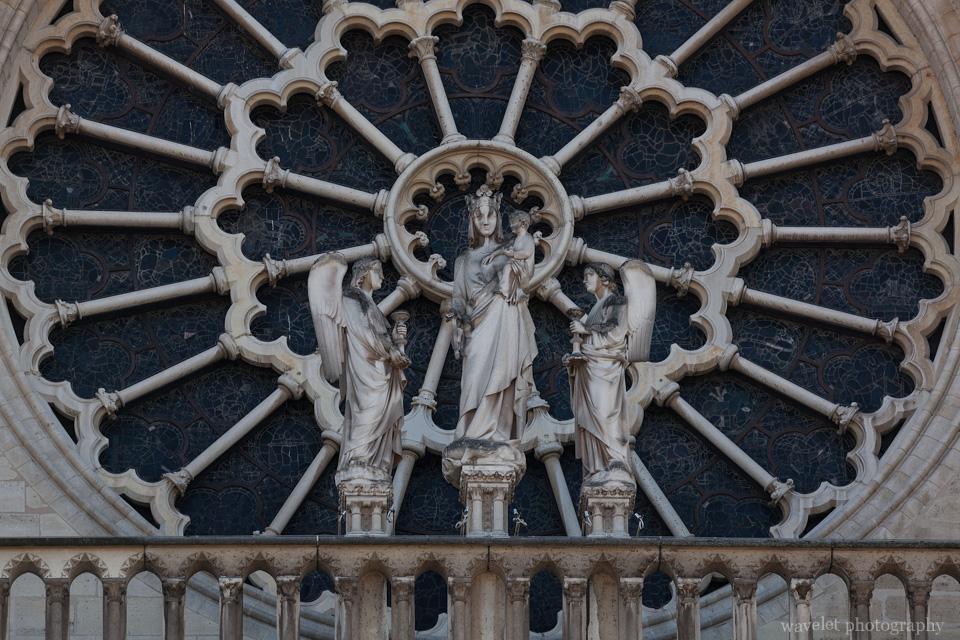 The rose window of the west façade of Notre-Dame de Paris