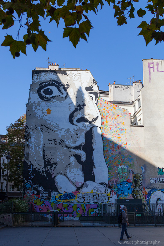 """Chuuuttt"" by Jef Aérosol, Paris"
