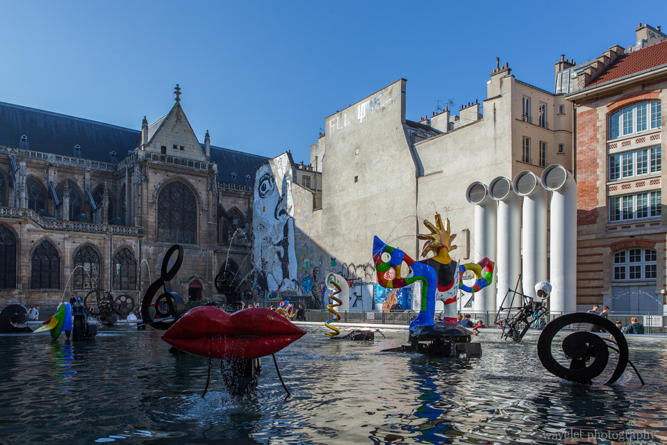 Stravinsky Fountain by Le Centre Pompidou, Paris