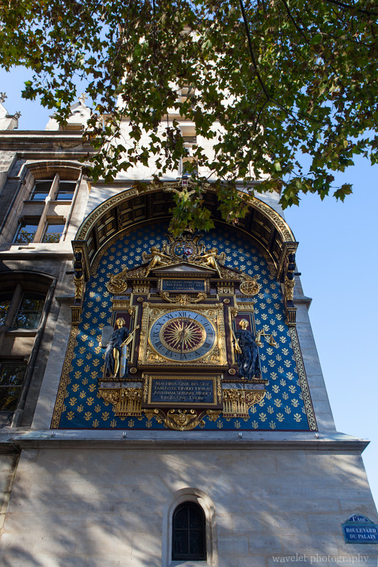 Paris's first public clock on Tour de I\'horloge, Conciergerie, Paris