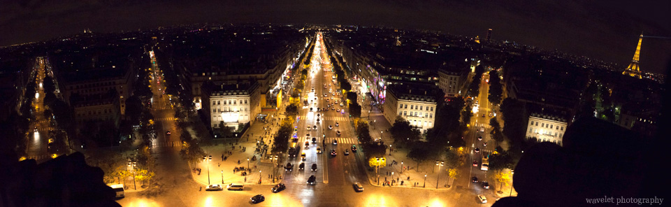 Paris as seen from the top of Arc de Triomphe, Paris