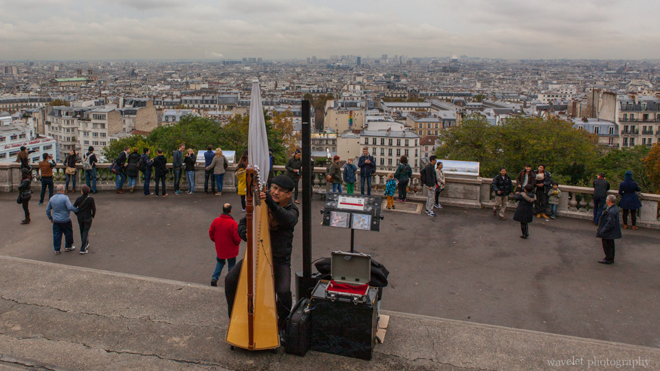 Overlook paris from Sacré-Cœur\'s upper platform, Paris