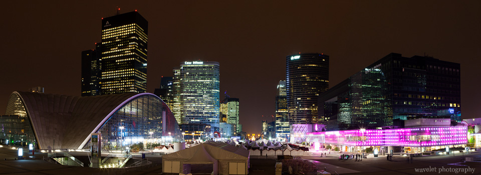 La Défense at night, Paris