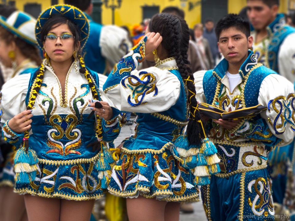 Parade in Plaza Mayor, Lima