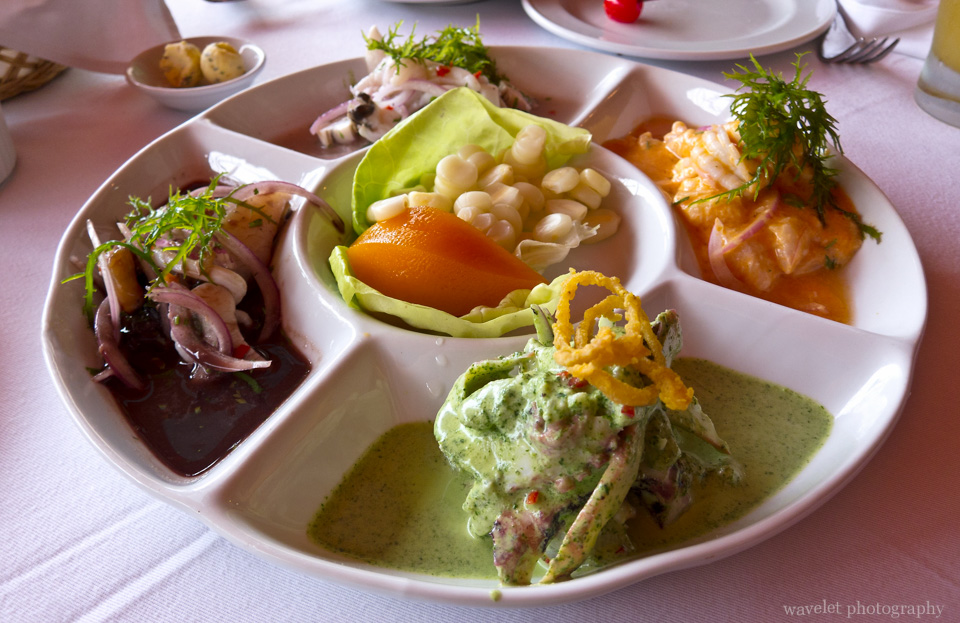 Ceviche Samplers, Alfresco, Lima