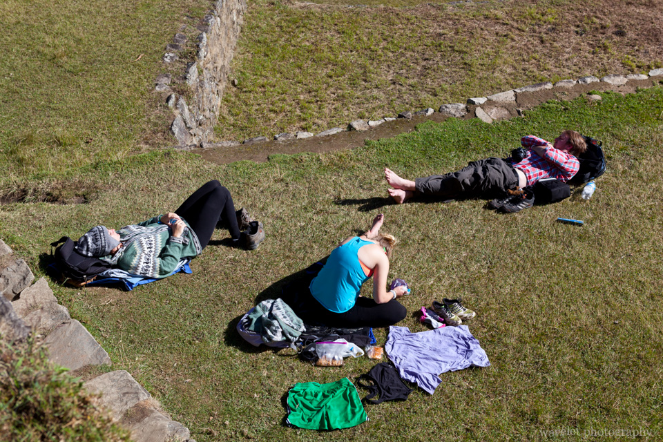 Resting after Climbing Huayna Picchu