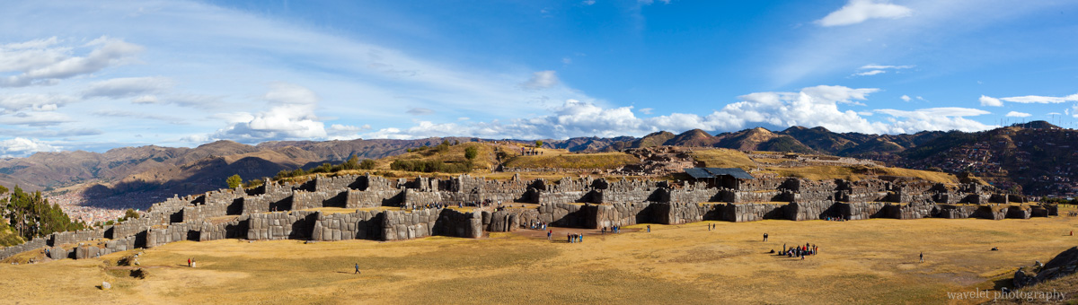 Panorama of Sacsayhuamán with the city of Cusco in the background