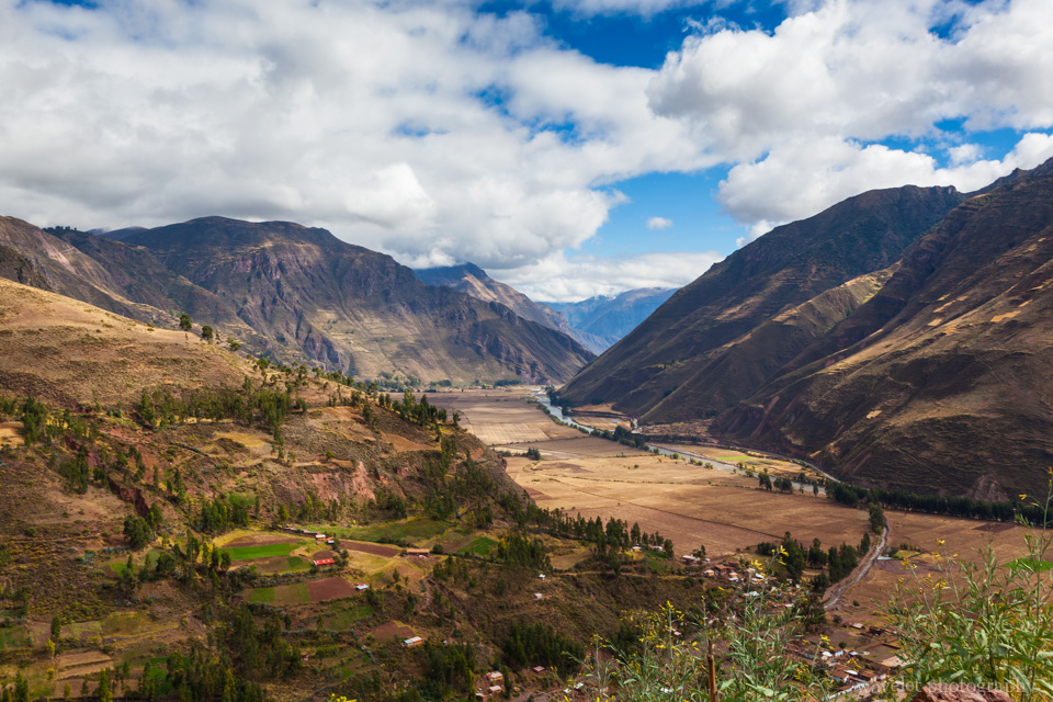 Overlook the entrance of Urubamba Valley