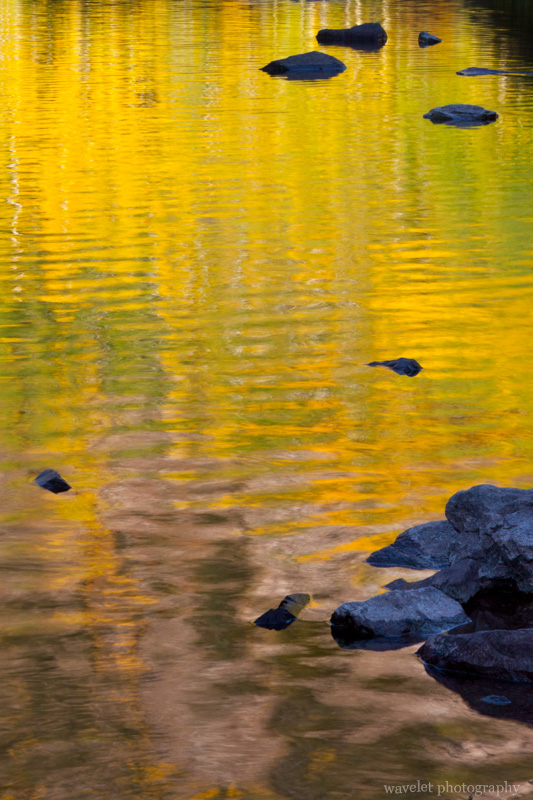 Reflection of the fall color, Maroon Bells, Colorado