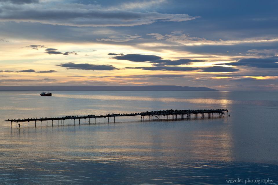 Sunrise over the Strait of Magellan