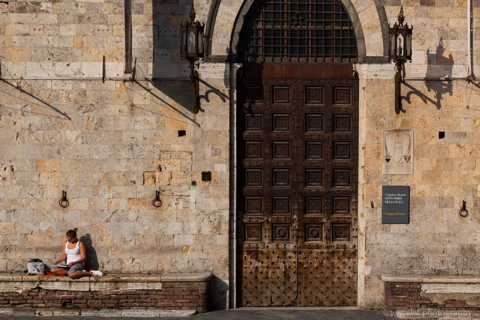 Santa Maria della Scala in the morning sun, Siena