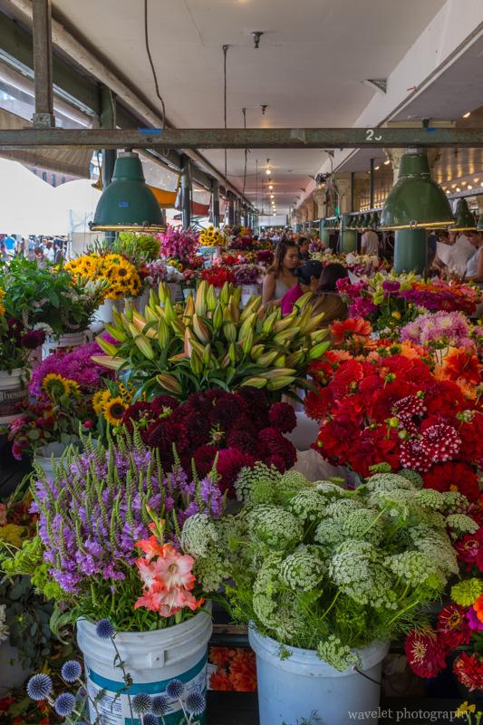 Flowers in the Public Market, Seattle