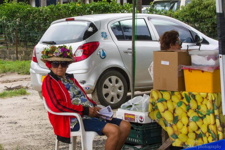 Fruit cart in Viatape, Bora Bora