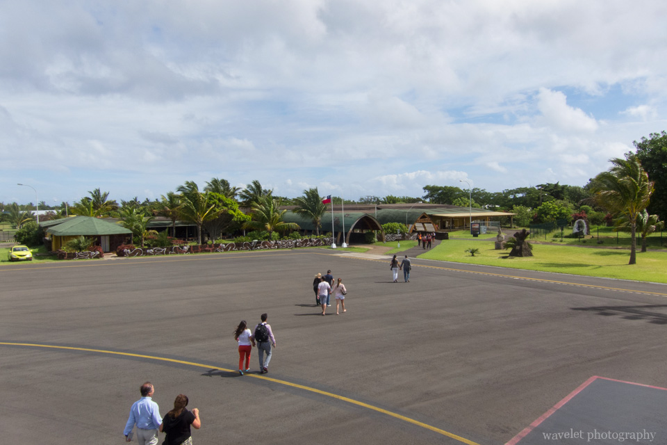 The airport, Easter Island