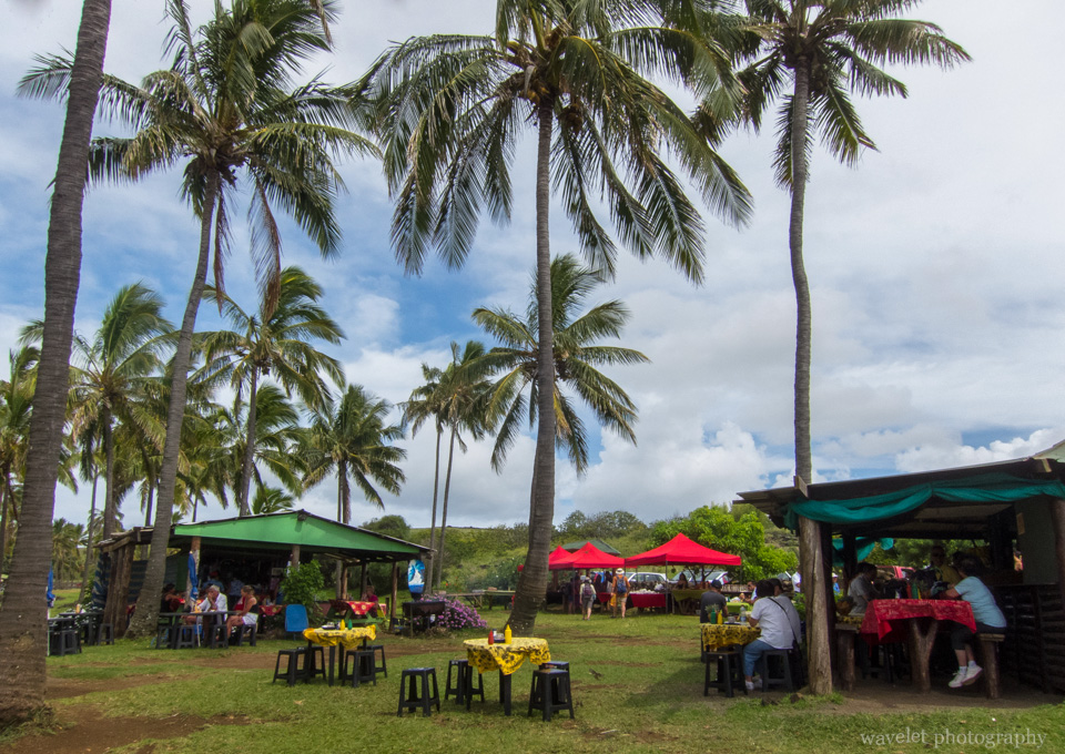 Lunch near Anakena beach, Easter Island