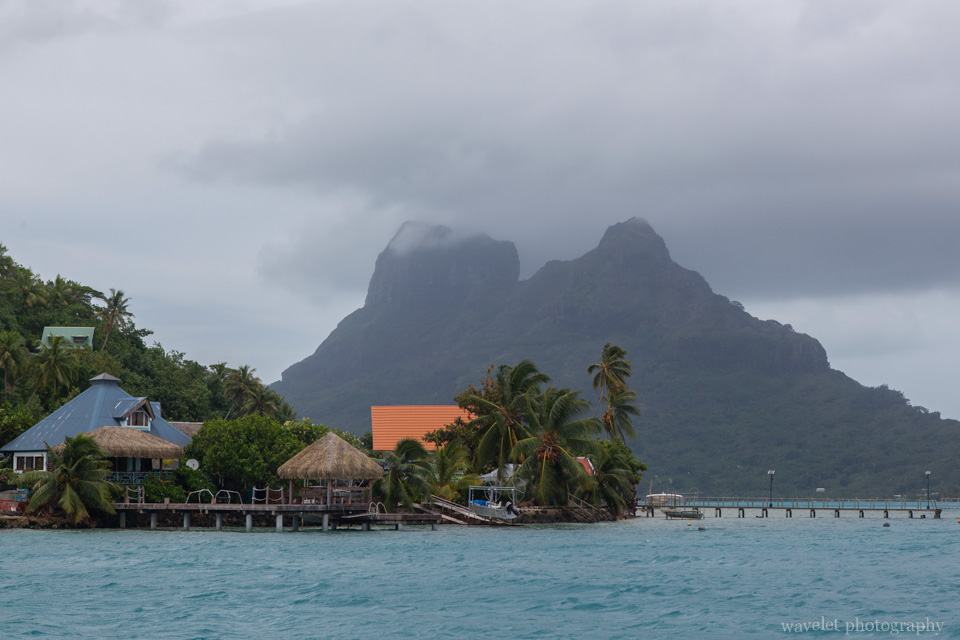 A dock on Bora Bora\'s main island, Shark and Ray feeding tour, Bora Bora