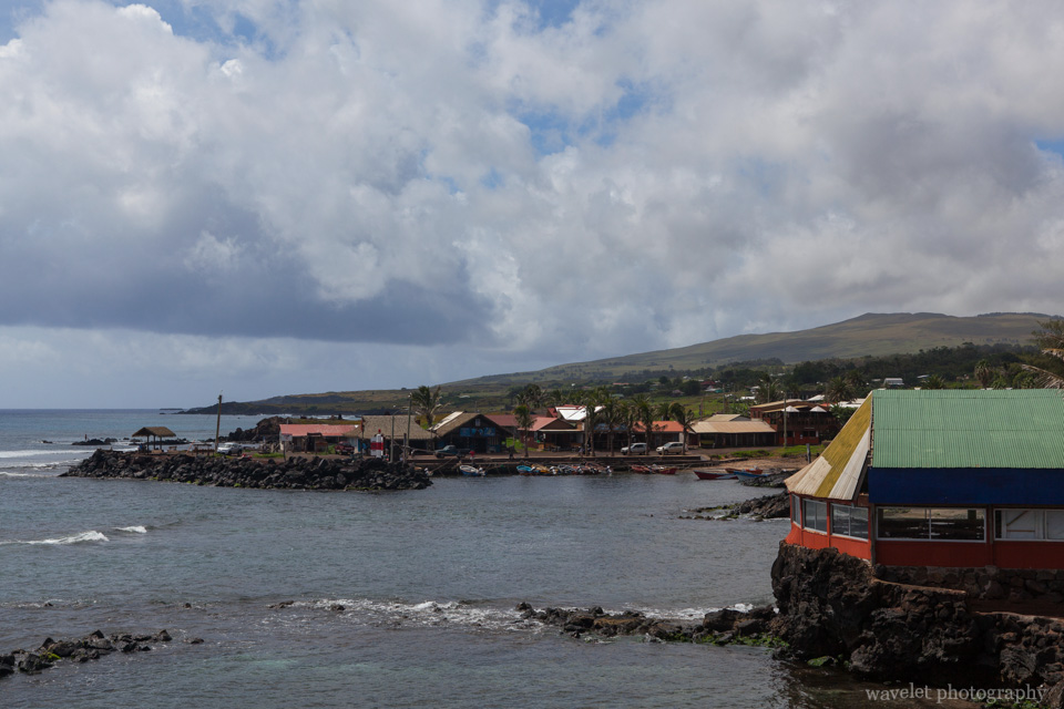 The north port of Hanga Roa, Easter Island