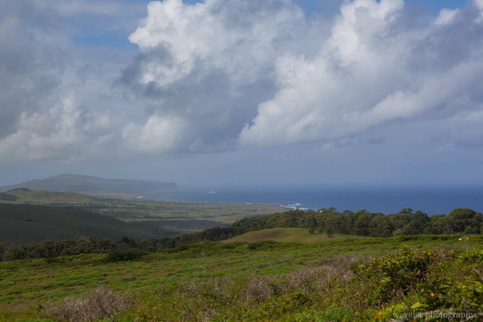 Overlook the southeast side of the island from Rano Kau, Easter Island