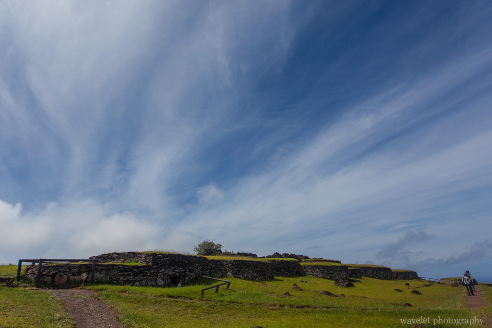 Houses in Orongo, Easter Island