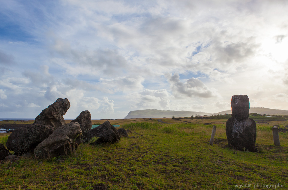 A small Ahu at the south coast of Easter Island