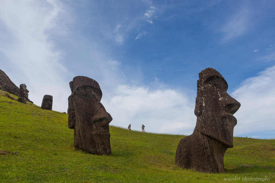 Rano Raraku, the main moai quarry, Easter Island