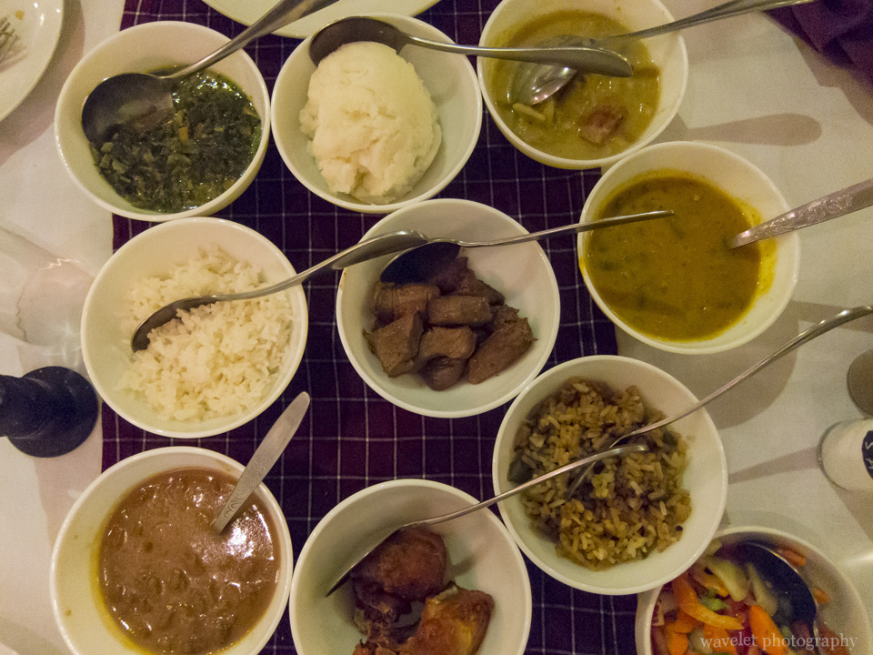 Swahili dishes at dinner, Ilboru Safari Lodge, Arusha, Tanzania