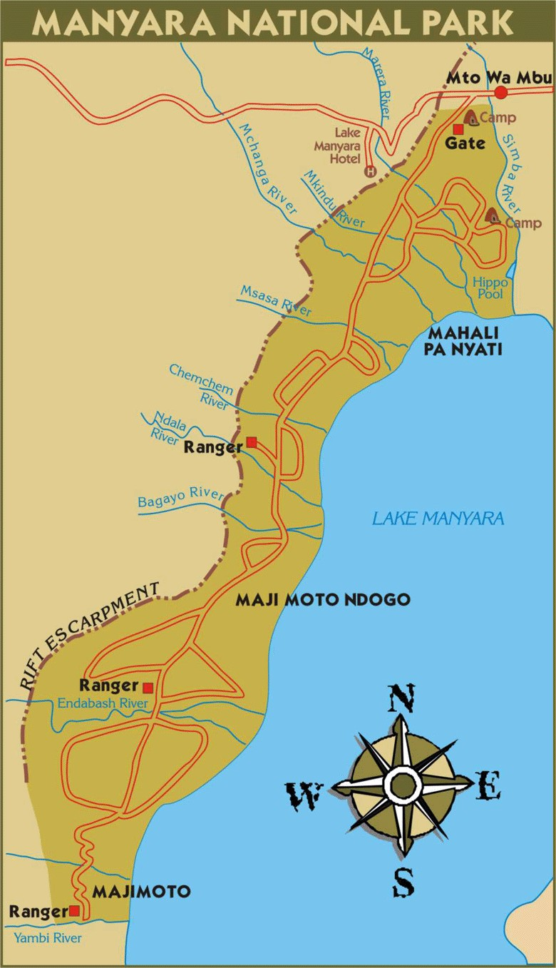 Lake Manyara National Park Map