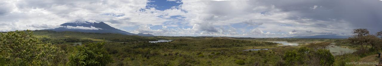 Panorama of Arusha National Park, Tanzania