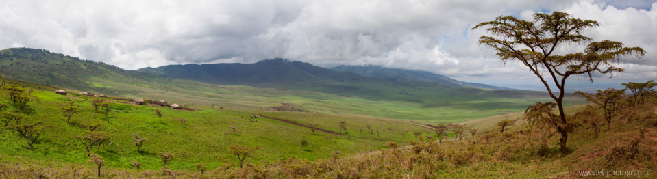 Western slope of Ngorongoro volcano