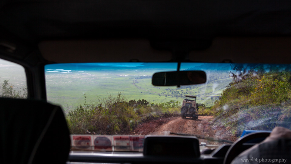 Drive down to the floor of Ngorongoro Crater
