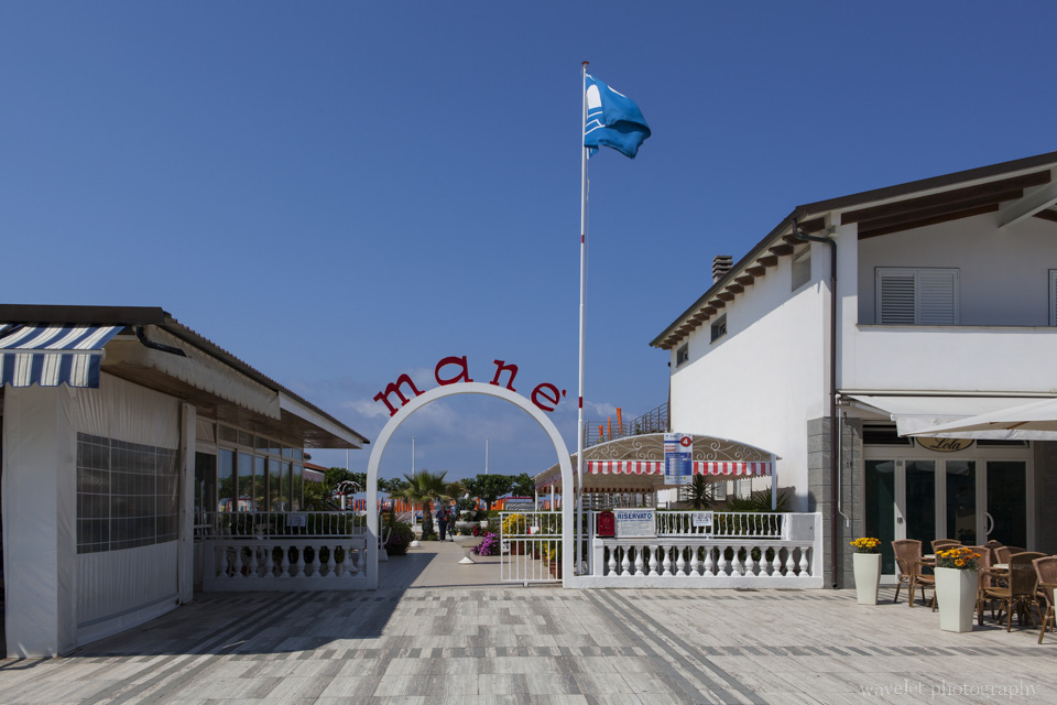 A seaside café at Viareggio