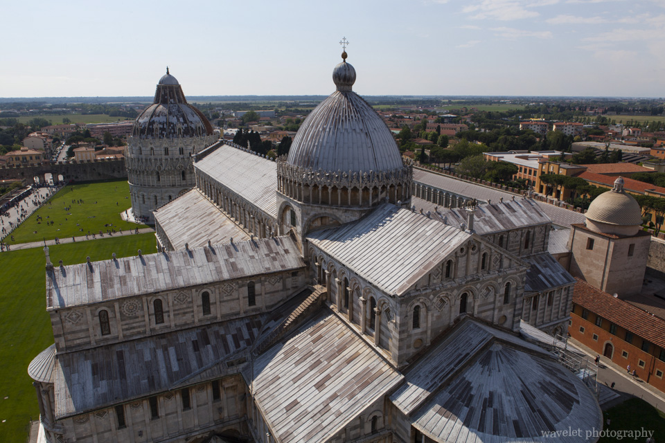 Piazza dei Miracoli, from the top of the Leaning Tower