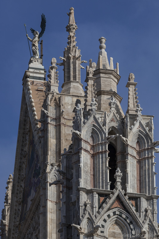 Central gable and right tower of the Duomo, Siena