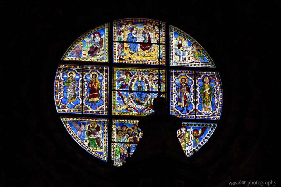 Stained-glass window in the Duomo, Siena