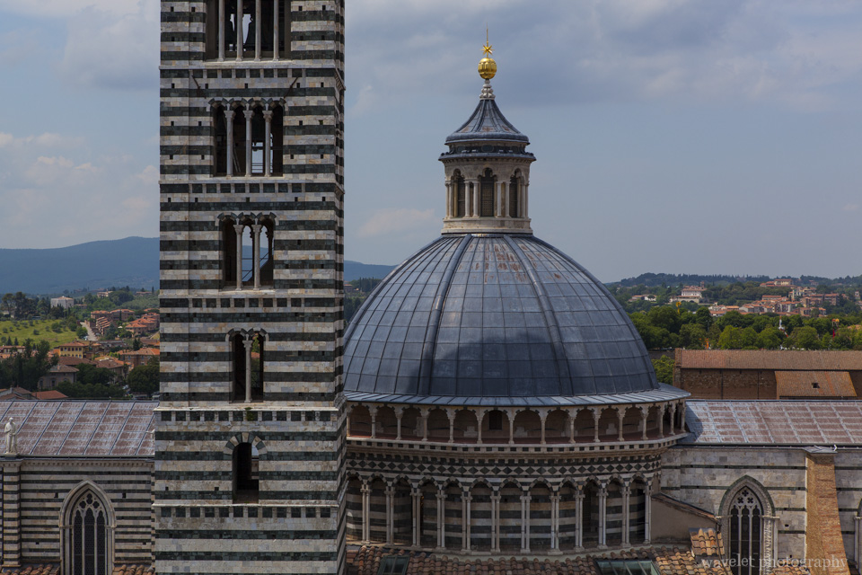 The dome and the bell tower of the Duomo, Siena