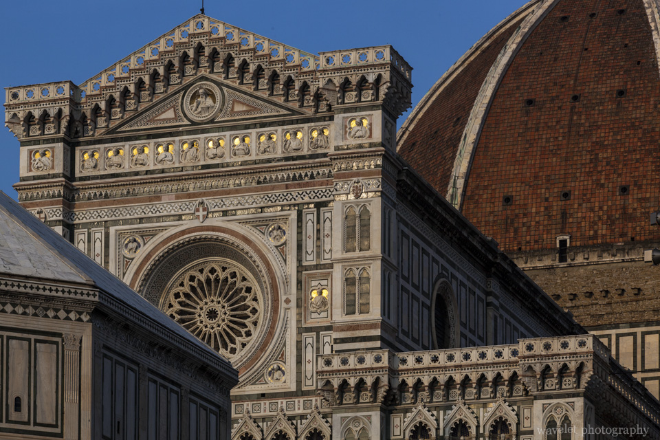West façade and the dome of the cathedral, Florence