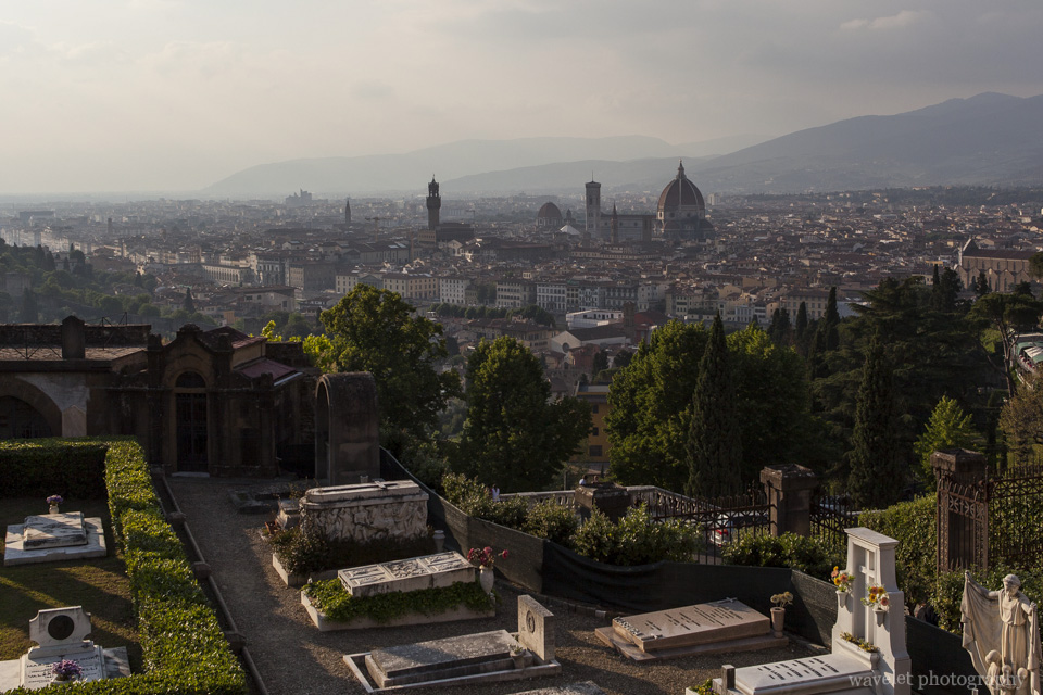 Overlook Florence from San Miniato al Monte